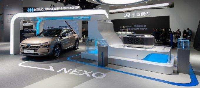 상하이 모터쇼에 전시된 현대차 넥쏘. /사진제공=현대자동차