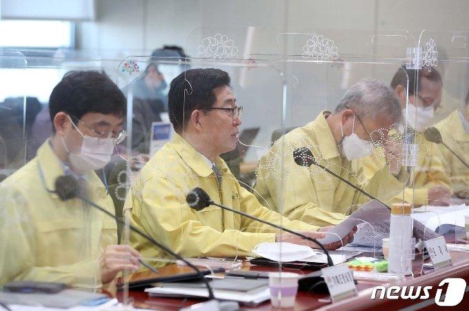 양승조 지사는 19일 열린 실국원장회의에서 일본 정부의 후쿠시마 원전사고 방사능 오염수 방류를 강력하게 규탄했다.(충남도 제공)© 뉴스1