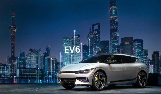 상하이 모터쇼에서 공개된 기아 EV6 /사진제공=현대차그룹