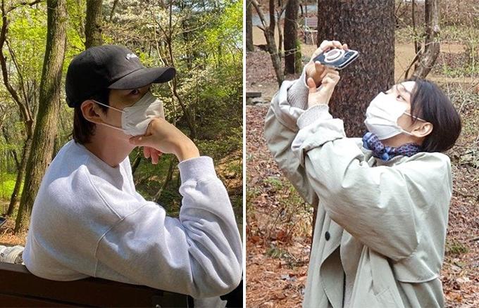 김우빈♥신민아, 같은 날 같은 장소…