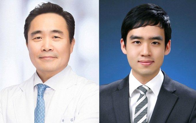 (왼쪽부터) 김동기 서울대학병원 신장내과 교수, 박세훈 전임의/사진제공=서울대병원