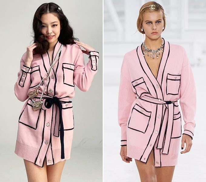 각각 그룹 블랙핑크 제니, 샤넬 2021 S/S 컬렉션/사진=제니 인스타그램, 샤넬(Chanel)
