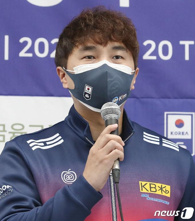 [사진] 인사말 하는 '팀킴' 임명섭 코치