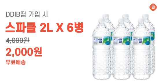 2인 공동구매 'DDIB띱', 2리터 생수 6병 '2000원' 이벤트