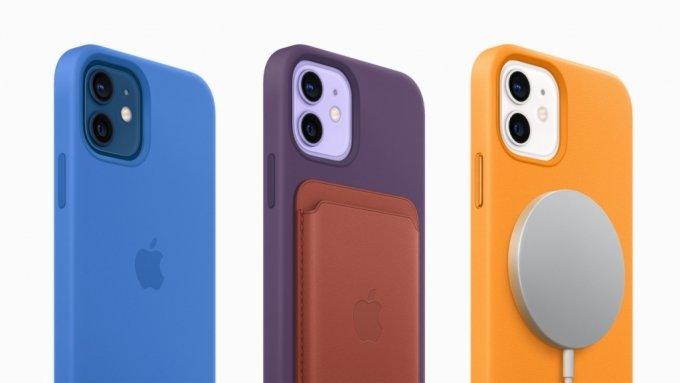 새롭게 출시되는 아이폰12 시리즈 보호케이스 및 가죽 카드지갑 /사진=애플