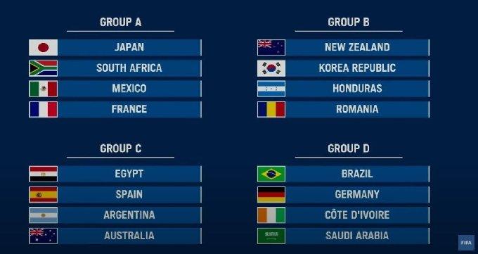 한국은 B조에 속했다.(FIFA 유튜브 캡처)© 뉴스1