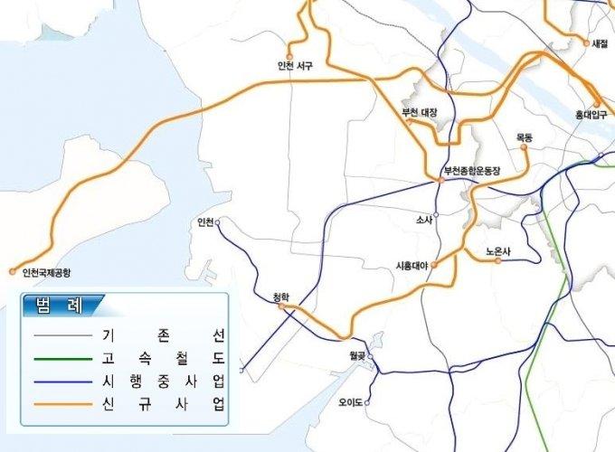 제4차 국가철도망구축계획(안)/자료제공=국토교통부