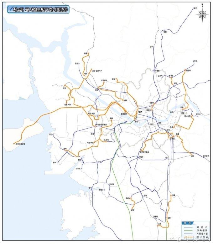 전국에 4개의 '메가시티' 생긴다...광역철도로 1시간대 생활권