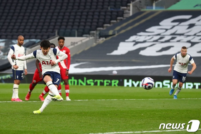 'PK 결승골+리그 15호골' 손흥민, 사우샘프턴전 평점 7.4…팀 내 2위