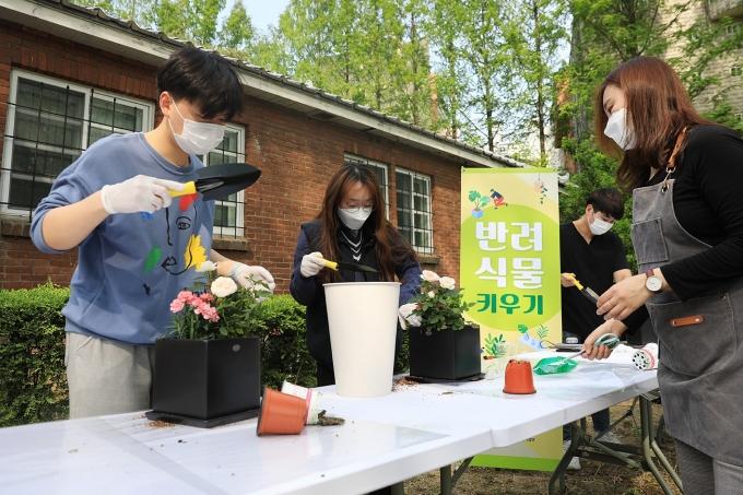 한남대, 코로나19 치유 프로젝트 '반려식물 키우기' 진행