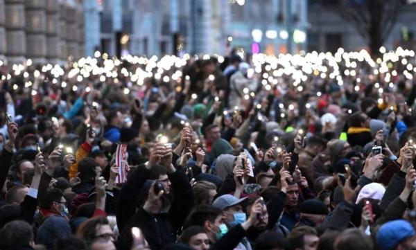 러시아 반정부 시위…1만4천 시민들