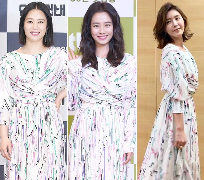 배우 김현주, 송지효, 채정안/사진=JTBC 제공, 채정안 인스타그램