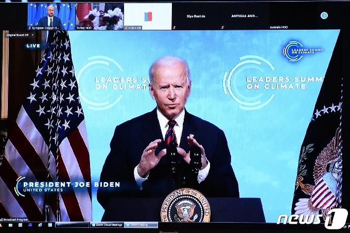 [사진] 기후 변화 선도적 역할 다짐하는 바이든 대통령