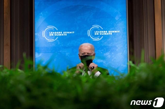 [사진] 기후 정상회의서 발언든는 바이든 대통령