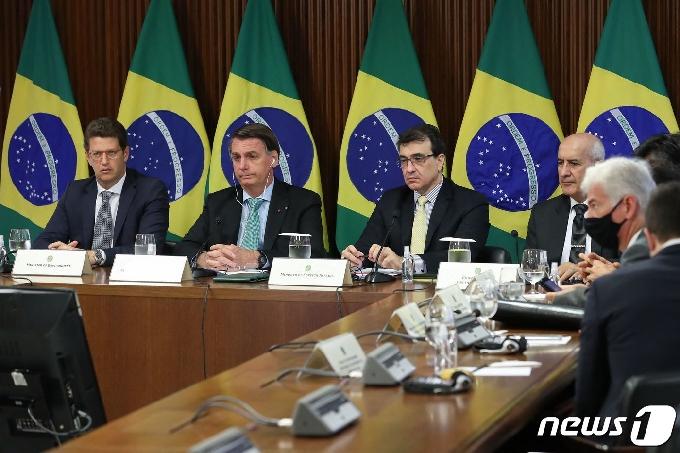 [사진] 화상 기후 정상회의 참석한 브라질 대통령
