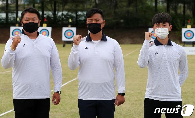 [사진] 도쿄 올림픽 양궁 국가대표 '김우진·오진혁·김제덕'