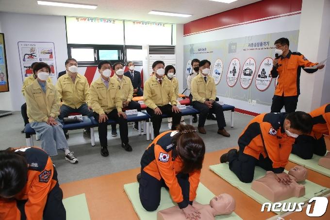 전북도의회 행자위, 고창소방서 소방안전체험교실 점검