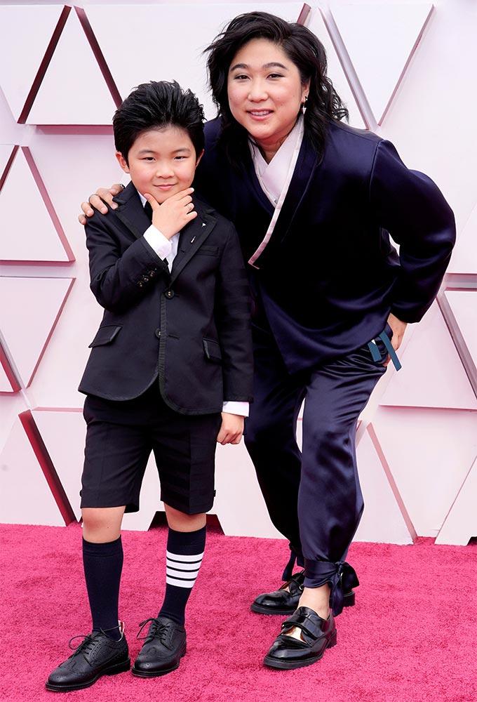 영화 '미나리' 아역배우 앨런 김, '미나리' 프로듀서 크리스티나 오/사진=Reuters/뉴스1