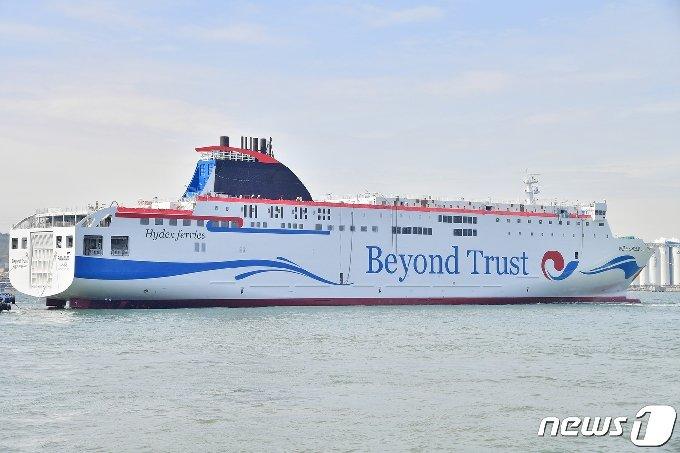 인천~제주 항로 여객선 '비욘드트러스트호(하이덱스스토리지 제공)2021.4.30/뉴스1' © News1 박아론 기자
