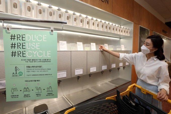 이마트, 샴푸·바디워시 리필 스테이션 오픈…ESG 경영 앞장