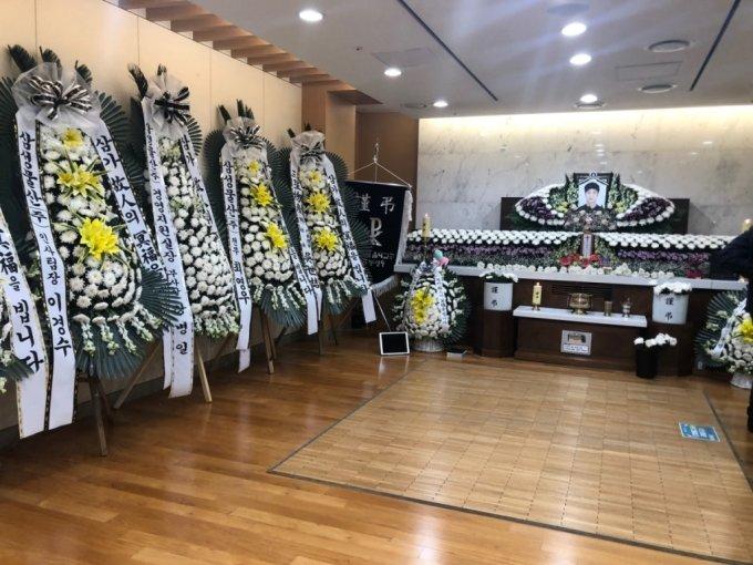 서울 성모병원 장례식장에 마련된 손정민씨 빈소. /사진=김지현 기자