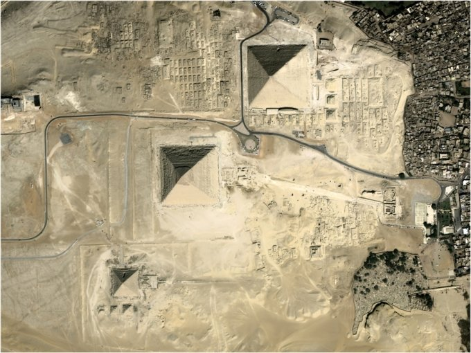 차세대 중형위성 1호가 촬영한 이집트 피라미드. /사진=과학기술정보통신부