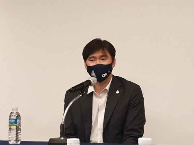 석진욱 OK금융그룹 감독./사진=심혜진 기자