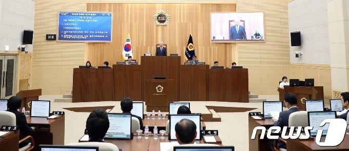 세종시의회 제56회 1차 정례회 본회의 모습.© 뉴스1
