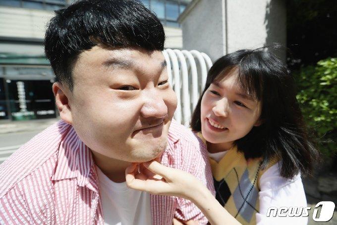 개그맨 부부 배정근 김단하 (오른쪽) © News1 권현진 기자