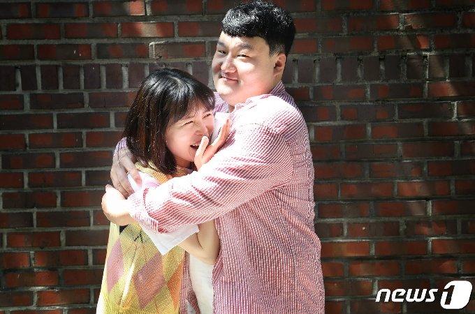 개그맨 부부 배정근 김단하(왼쪽) © News1 권현진 기자