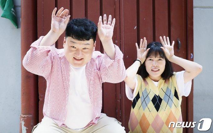 개그맨 부부 배정근 김단하(오른쪽) © News1 권현진 기자