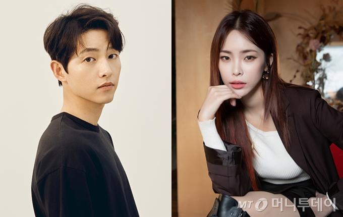 배우 송중기, 가수 헤이즈 /사진제공=하이스토리디앤씨, 스튜디오블루