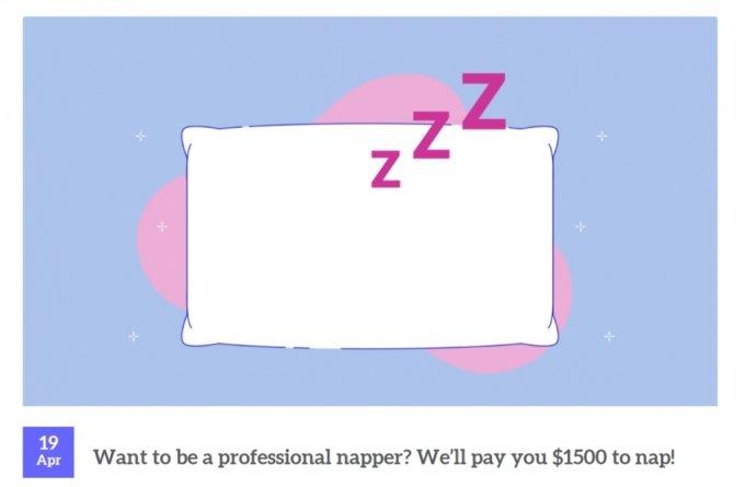 한 달 동안 매일 낮잠을 자고 168만원을 벌 수 있는 이색 '꿀알바' 공고가 이목을 끌고 있다. /사진=이치나이트 홈페이지 화면 캡처