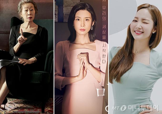 배우 윤여정, 이보영, 박민영 /사진=지그재그, tvN 제공, 나무엑터스 인스타그램