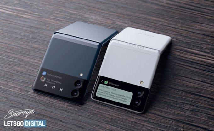 폴더블폰 갤럭시Z 플립3 예상 렌더링 /사진=렛츠고디지털