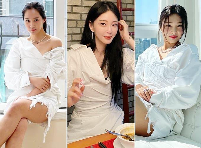 그룹 소녀시대 출신 배우 권유리, 그룹 레드벨벳 조이, 배우 한예슬/사진=권유리, 조이, 한예슬 인스타그램