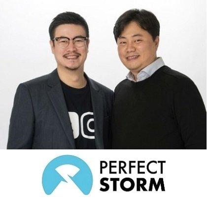 퍼펙트스톰의 박건수 대표(사진 왼쪽)와 박경제 대표/사진제공=퍼펙트스톰