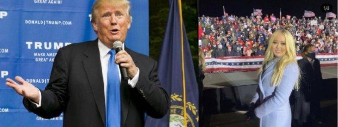 트럼프와 막내딸 티파니 트럼프/사진=로이터 /사진=티파니 트럼프 인스타그램