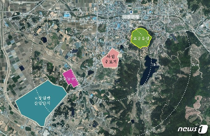 전북 고창군이 전북개발공사와 업무협약을 맺고 고창읍 백양지구에 대해 도시개발 사업을 추진한다고 밝혔다. © 뉴스1