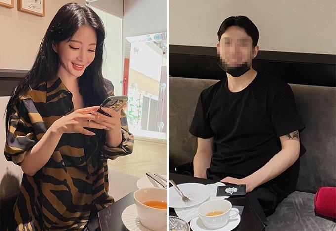 배우 한예슬, 한예슬이 '남자친구'라고 공개한 인물 /사진=배우 한예슬 인스타그램