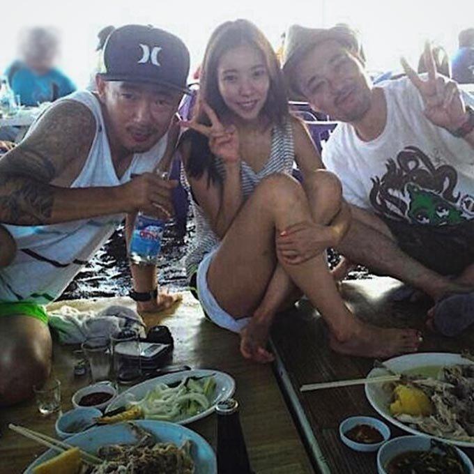 그룹 DJ DOC 이하늘과 그의 전 아내 박유선, 이하늘의 친동생 故 이현배/사진=박유선 인스타그램