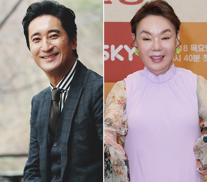 배우 신현준, 김수미/사진=머니투데이 DB, SKY TV 제공