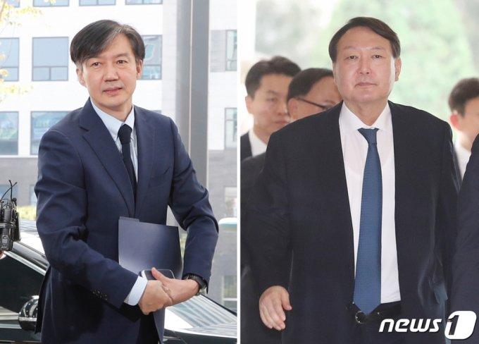 조국 전 법무부 장관과 윤석열 전 검찰총장. 2019.9.25/뉴스1