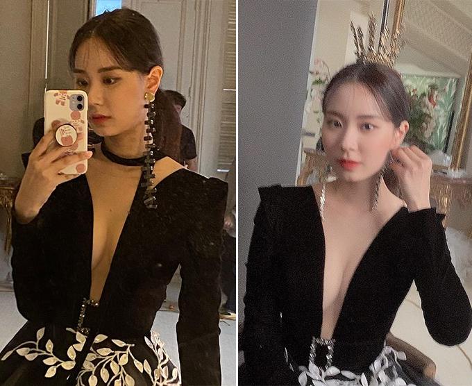 최현석 딸 최연수, 가슴선 깊게 파인 드레스 룩 '파격'
