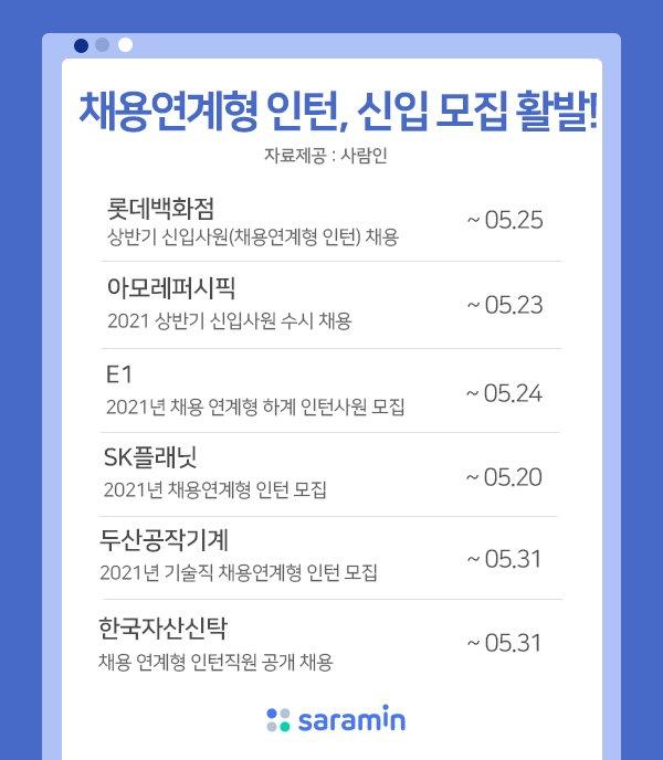 롯데백화점·아모레퍼시픽 등 '채용연계형' 인턴채용