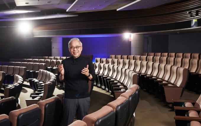 최주선 삼성디스플레이 대표이사가 18일 '디스플레이 위크 2021'에서 '메타버스와 디스플레이의 위대한 미래'를 주제로 기조 연설을 하고 있다. /사진제공=삼성디스플레이
