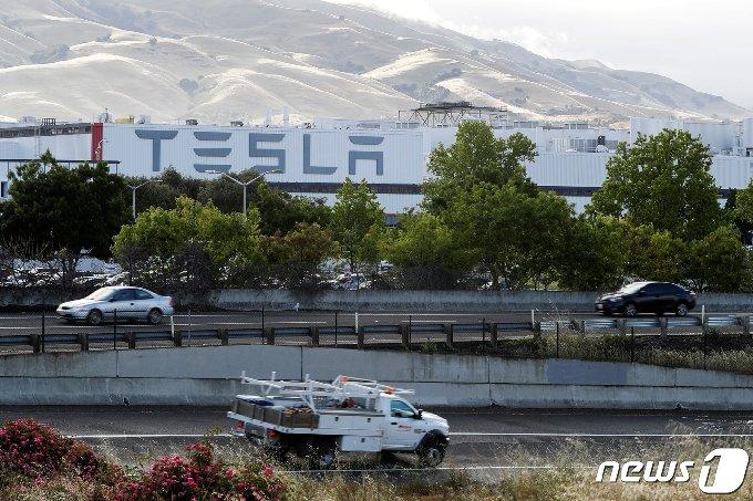 캘리포니아주 프리몬트에 위치한 테슬라 공장. © 로이터=뉴스1 © News1 박형기 기자