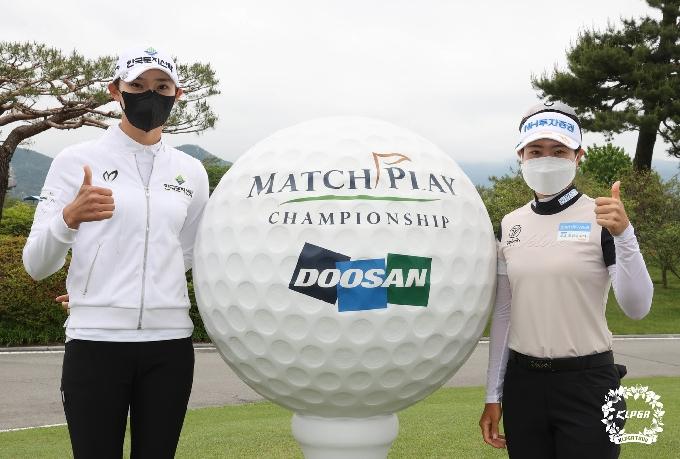 [사진] 김민선·박민지 '두산 매치 챔피언십 기대해주세요'