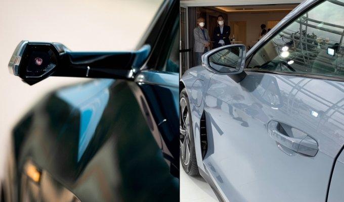 아우디 e-트론 버추얼(디지털) 사이드 미러(왼쪽)와 아우디 e-트론 GT 사이드 미러(오른쪽)/사진제공=아우디코리아