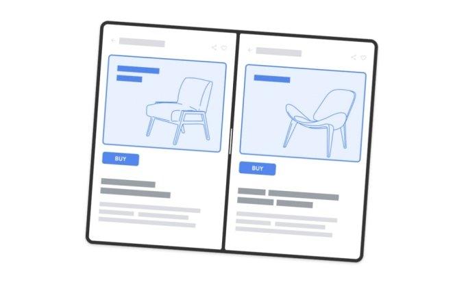 구글 안드로이드 12 폴더블 소프트웨어 데모에 나온 예시 화면 /사진=구글